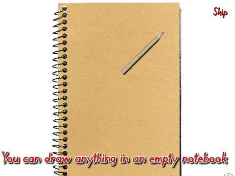 笔记本上的小人