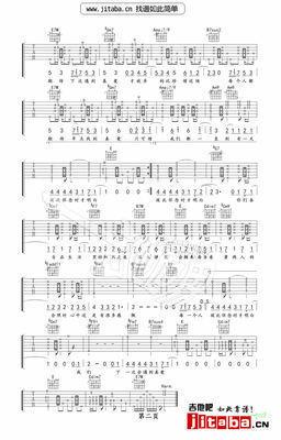 吉他谱 脚踏车吉他谱独奏谱   描述:陈奕迅《单车》吉他谱六线谱 g调