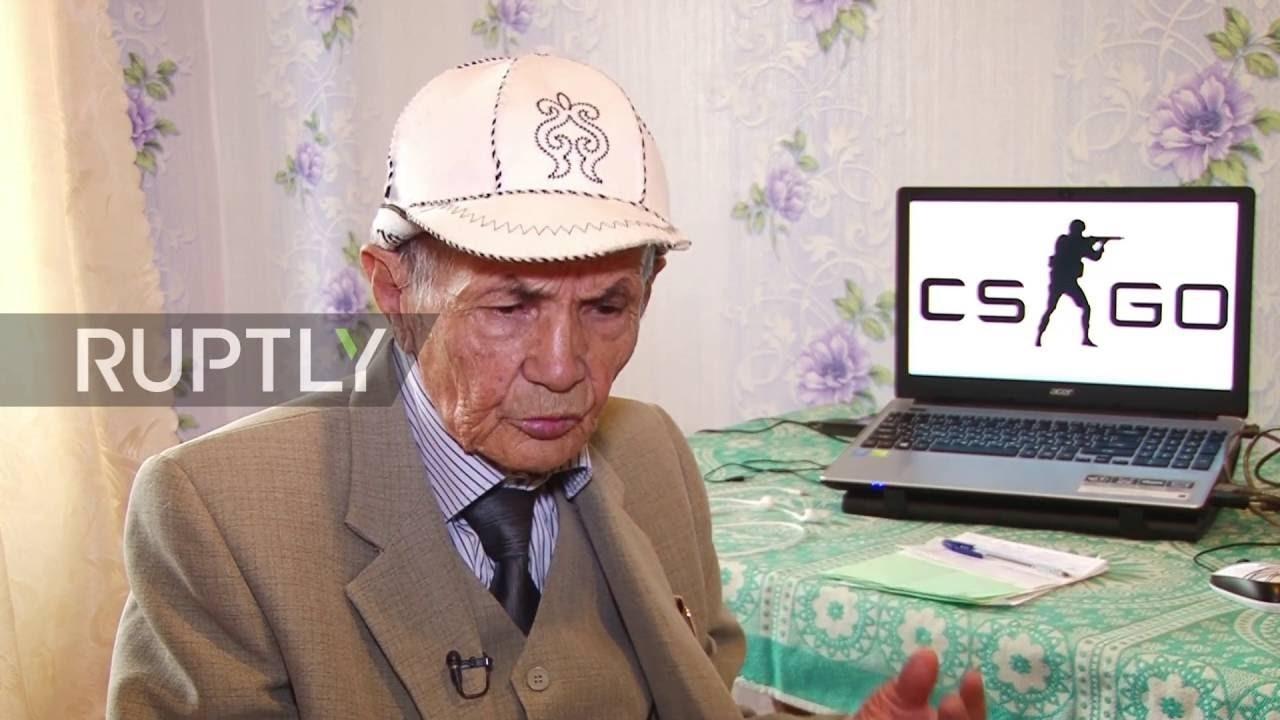 俄罗斯71岁老人爱玩《CS:GO》