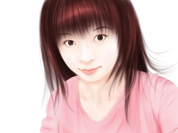 ps照片转 手绘教程 :mm转手绘之头发的画法