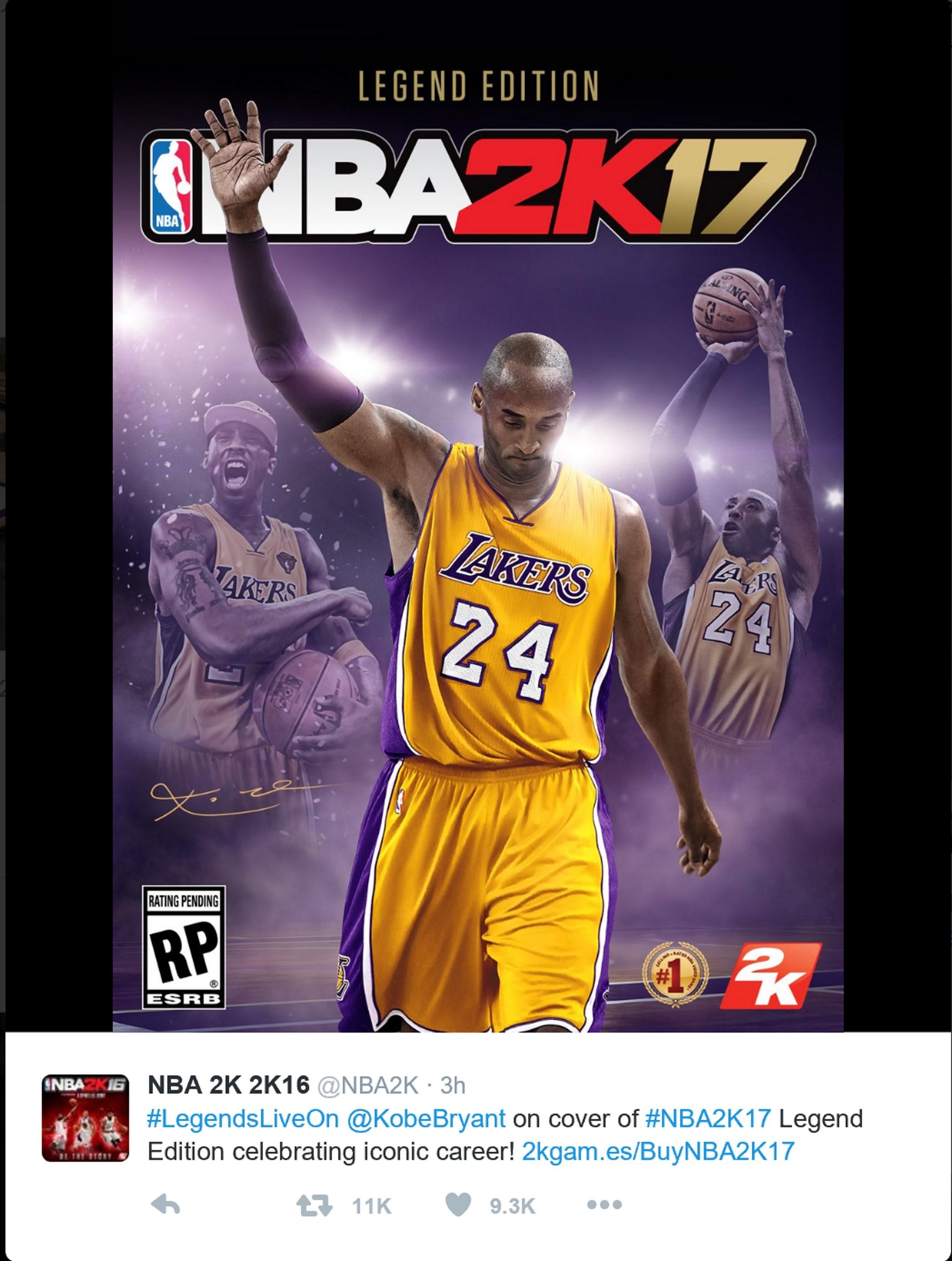 《NBA2K17》传奇版封面人物