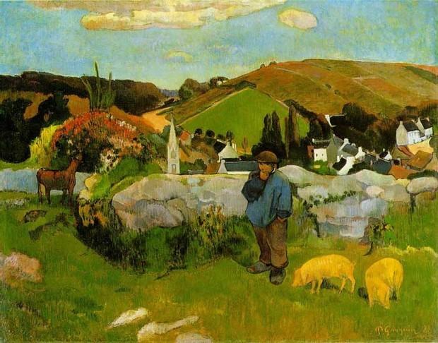 跪求一睹法国著名画家保罗·高更的一幅震动世界的