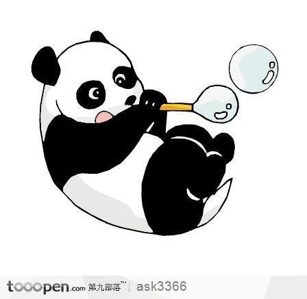 小熊猫怎么画? 简单的图片