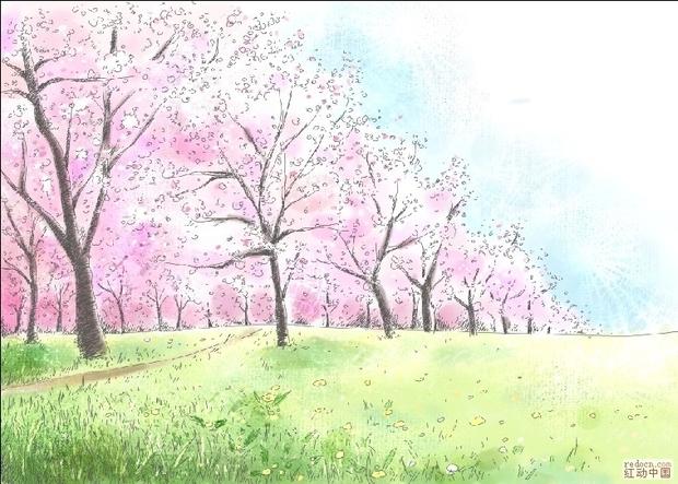 动漫樱花树怎么画?跪求啊