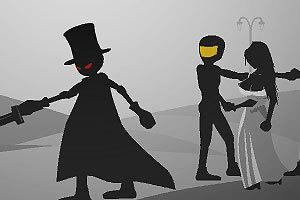 游戏介绍:火柴人原本和自己喜欢的女孩在一个小乡村