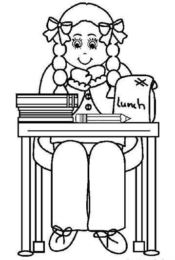 如何画坐在桌子边的人物简笔画