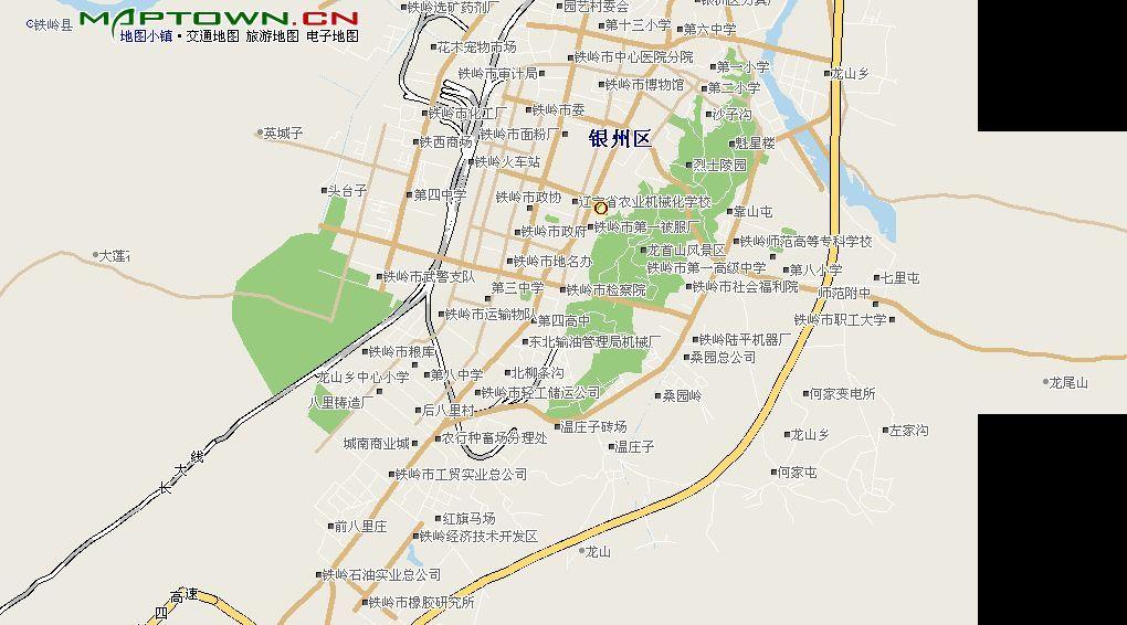 铁岭新区地图高清版