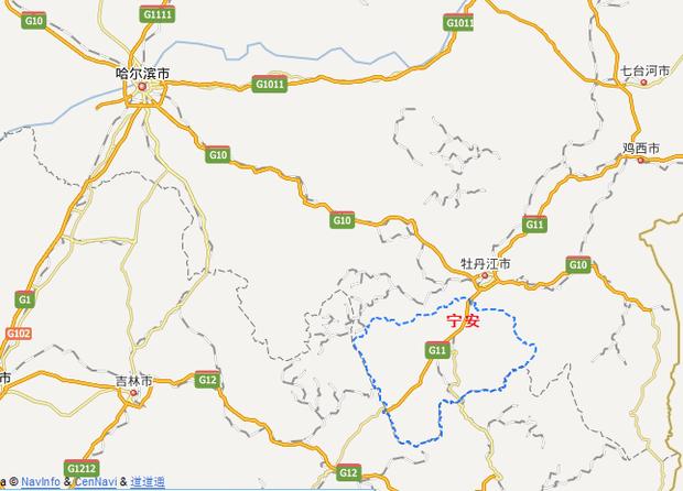 牡丹江 敦化地图